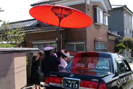 花嫁専用のハイルーフ車